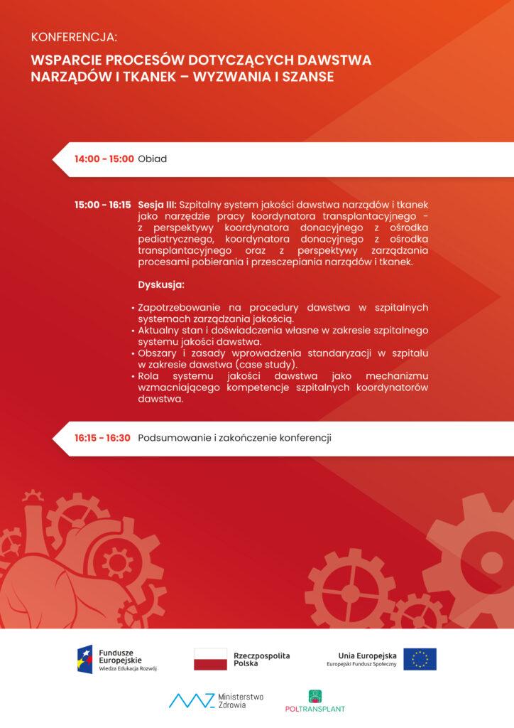 Wsparcie procesów dotyczących dawstwa narządów i tkanek. Źródło: gov.pl
